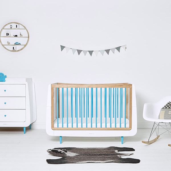 SnuzKot Skandi Cot Bed in Blue