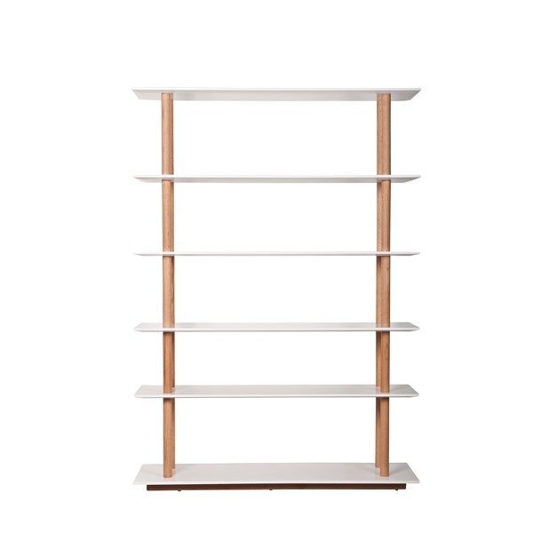 Zuiver Bedroom & Living Room Bookshelf with Scandinavian Solid Oak Legs