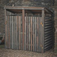 WOODEN DOUBLE WHEELIE BIN STORAGE