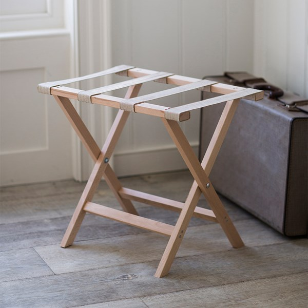 Garden Trading Folding Luggage Rack with Fabric Staps