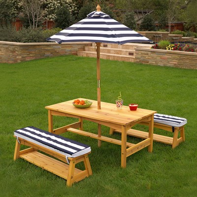 Kidkraft Outdoor Table Bench Set With, Outdoor Kids Table