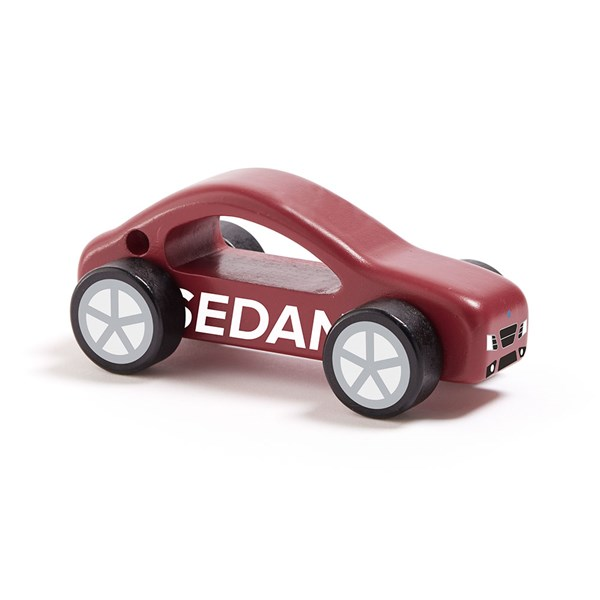 Children's Wooden Sedan Toy Car