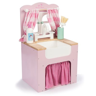 LE TOY VAN HONEYBAKE WOODEN PLAY KITCHEN SINK with Opening Window