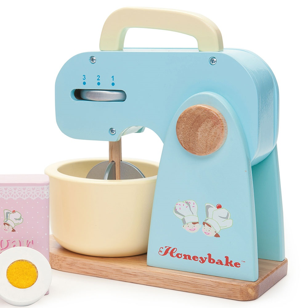 Toy Hand Mixer ~ Le toy van wooden mixer set with detachable bowl gifts