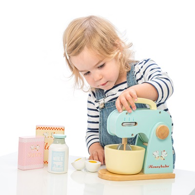 Le Toy Van Honeybake Wooden Mixer Set with Detachable Bowl