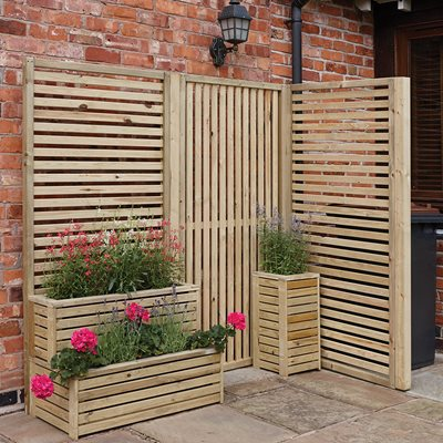 ROWLINSON VERTICAL SLAT GARDEN SCREENS