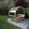Ornate Garden Wheel Bench with Table