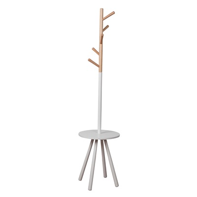 ZUIVER TABLE TREE SCANDINAVIAN COAT STAND in White & Natural