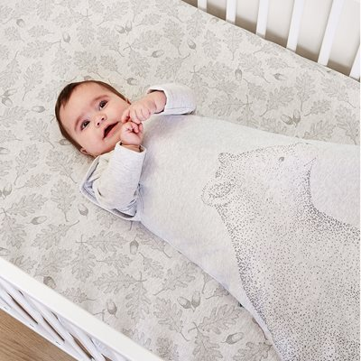 WILD COTTON ORGANIC FITTED COT SHEET in Woodland Design