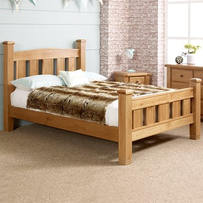 WOODSTOCK BED FRAME in Oak By Birlea