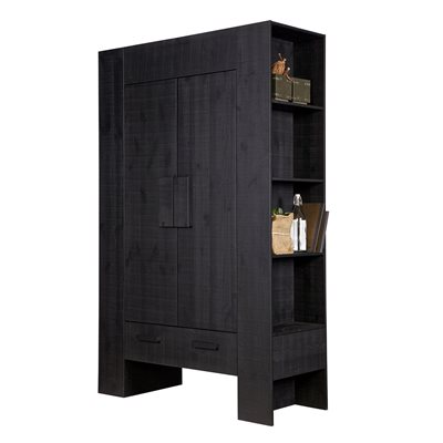 HIDDE SCANDINAVIAN STORAGE CABINET in Black