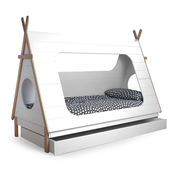 Unique Childrens Teepee Bed Under Drawer