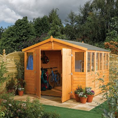 ROWLINSON WOODEN OUTDOOR WORKSHOP in Honey Brown