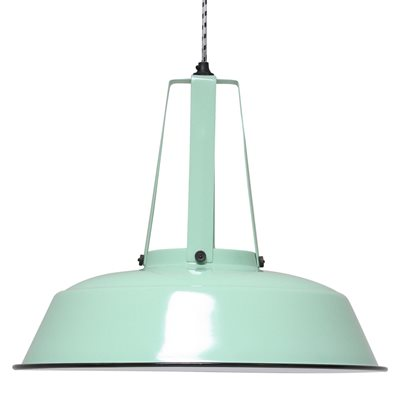 INDUSTRIAL WORKSHOP PENDANT LIGHT in Mint Green