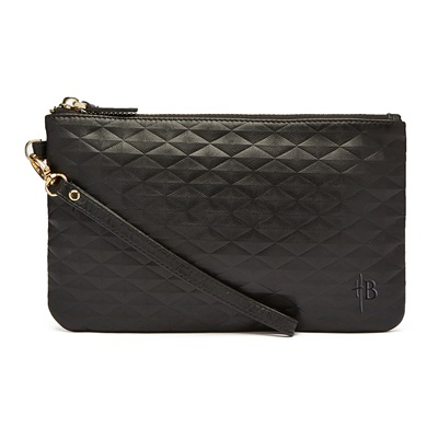PHONE CHARGING MIGHTY PURSE WRISTLET BAG in Diamond Black