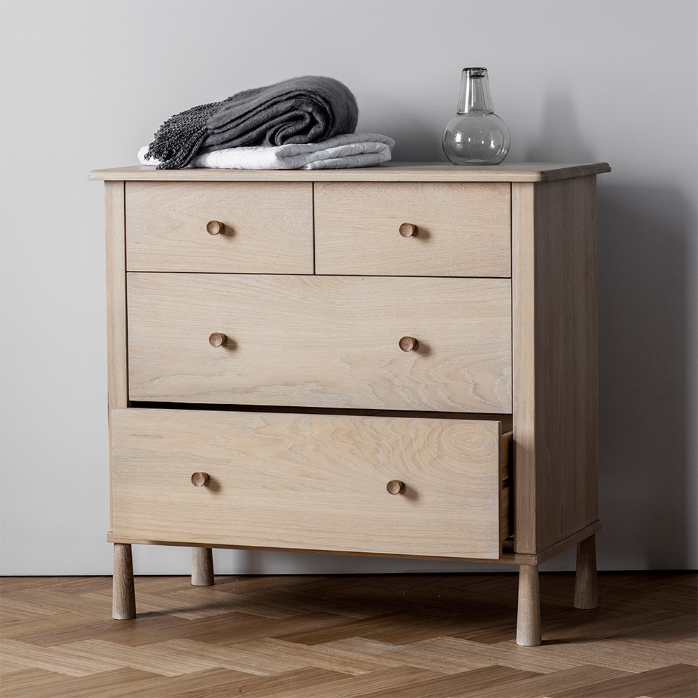 Modern Bedroom Chest Of Drawers Wycombe Oak Chest Of Drawers By Frank Hudson Furniture Cuckooland