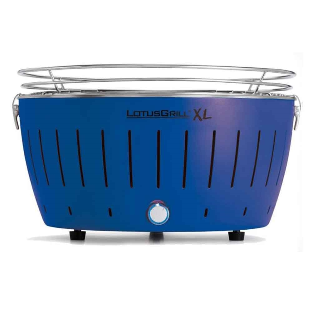lotus grill xl bbq in blue with free fire lighter gel charcoal