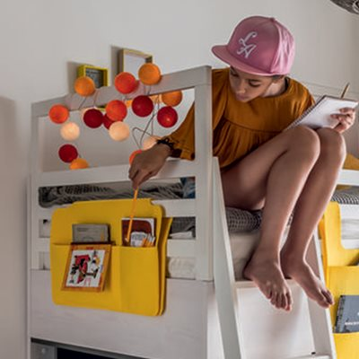 NEST CABIN BED HANGING ORGANISER in Yellow