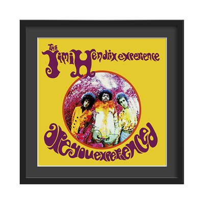 JIMI HENDRIX FRAMED ALBUM WALL ART in Are You Experienced Print