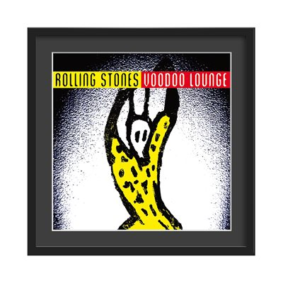 THE ROLLING STONES FRAMED ALBUM WALL ART in Voodoo Lounge Print