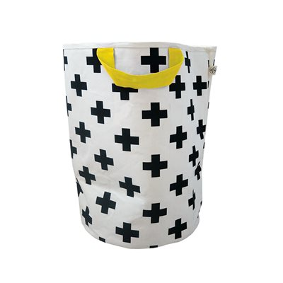 WILDFIRE KIDS TOY STORAGE BAG in Crosses with Yellow Handles