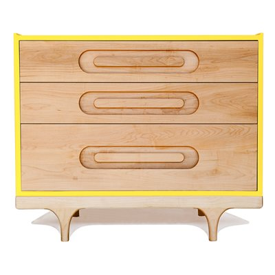 KALON STUDIOS KIDS CARAVAN DRESSER in Maple & Yellow