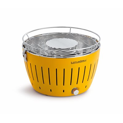 LOTUS GRILL BBQ in Yellow with Free Lighter Gel & Charcoal