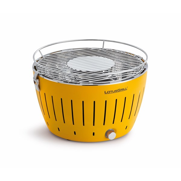 Lotus BBQ Grill in Corn Yellow with FREE Charcoal, Lighter Gel & Carry Bag