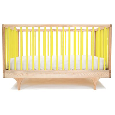 KALON STUDIOS CARAVAN COT & TODDLER BED in Yellow