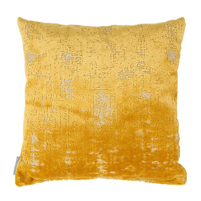 SARONA VELVET CUSHION in Yellow