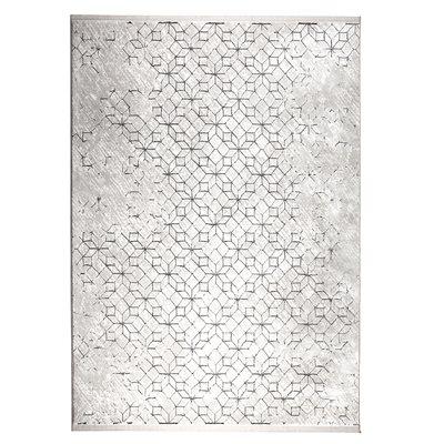 YENGA GEOMETRIC WOVEN FLOOR RUG with Black Pattern