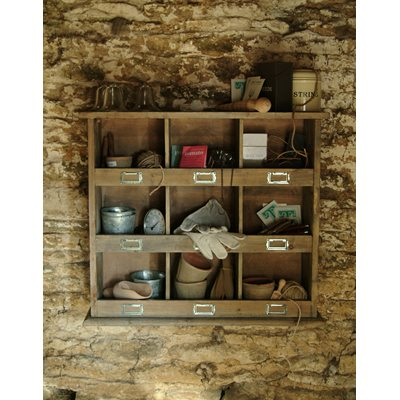 WOODEN WALL UNIT STORAGE by Garden Trading