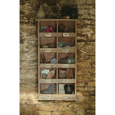 TALL WOODEN STORAGE WALL UNIT by Garden Trading
