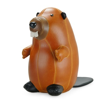 beaver animal bookend by zuny homewares cuckooland. Black Bedroom Furniture Sets. Home Design Ideas