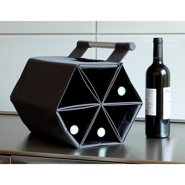 Wine Carry Bag in Black