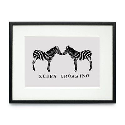 ZEBRA CROSSING FRAMED PRINT by Raw Xclusive