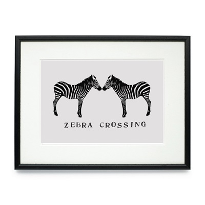 ZEBRA CROSSING FRAMED PRINT by Raw Xclusive