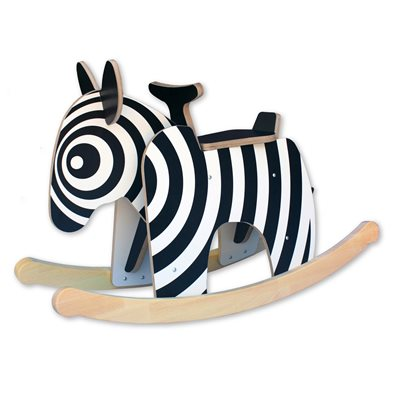 KIDS ROCKER CHAIR in Zebra Lux