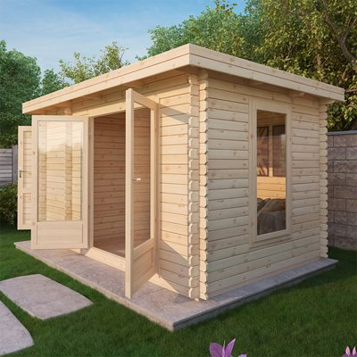 ZEN LOG CABIN with Double Glazing by Mercia