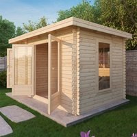 ZEN LOG CABIN with Double Glazing by Mercia  34mm