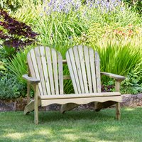ZEST 4 LEISURE WOODEN LILY RELAX 2 SEATER BENCH