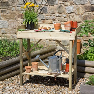 ZEST 4 LEISURE ECONOMY WOODEN POTTING TABLE