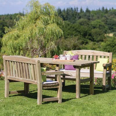 Zest 4 Leisure Wooden Emily Table & Bench Set