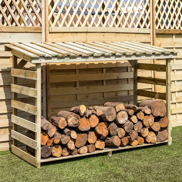 Large Wooden Log Store