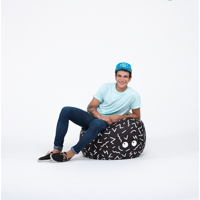 Ziggy Bean Bag In Black Amp White Childrens Beanbags
