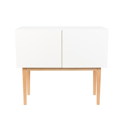 ZUIVER HIGH ON WOOD 2 DOOR SIDEBOARD in White & Oak