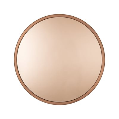 ZUIVER BANDIT ROUND WALL MIRROR in Copper