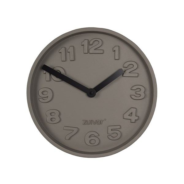 Zuiver Concrete Time Clock with Black Hands