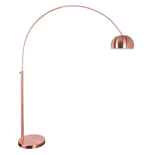 Zuiver Metal Bow Floor Lamp in Copper