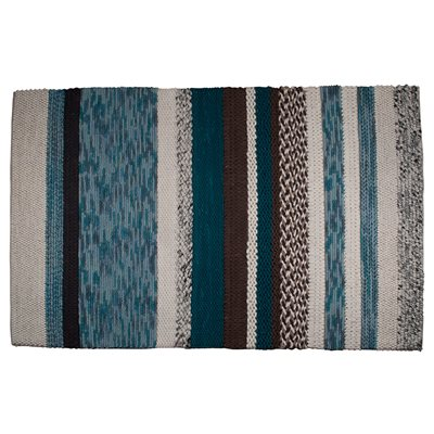 ZUIVER NORWAY HAND KNOTTED 100% WOOL RUG in Blue